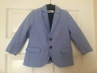 Boys smart coat jacket H&M size 2-3 years blue blazer worn once good condition