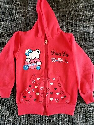 Girl Hoodie with zip Size 5-6 Years