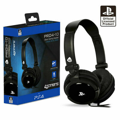PS4 Gaming Chat Headset with Mic BLACK Officially Licensed PRO4-10 (PS4 & Vita)
