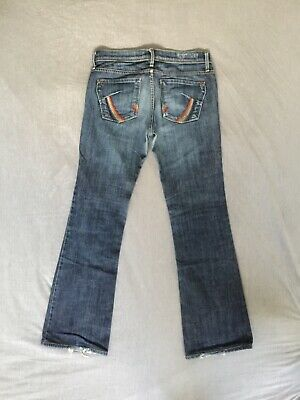 JAMES CURED FOR SEUN Rainbow Pockets Bootcut Jeans Size 26