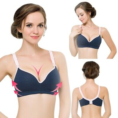 Women Maternity Nursing Bra Soft Seamless-Wireless Breastfeeding Push up Bra UK