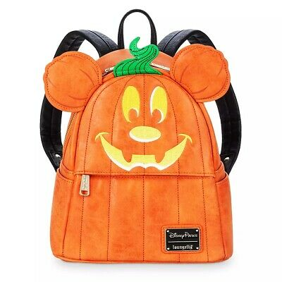 Disney Parks Loungefly Mickey Mouse Pumpkin Halloween Mini Backpack - New In Bag