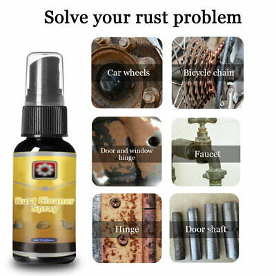 30ML Rust Cleaner Spray Derusting Spray Car Maintenance Cleaning Top UK