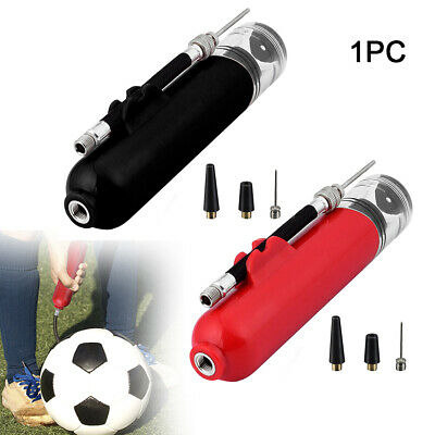 Fast Inflating Hand Air Pump With Needle Adapter For Ball Football Sports New UK