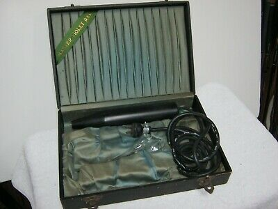 Antique Master Quack Shock Machine Medical Device Hair Growth Violet Ray In Case