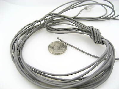 5ms of 2mm grey Round Elastic cord sewing accessories 3mm stretch bungee cord