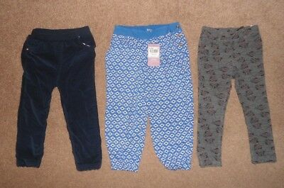 GIRLS STYLISH TROUSERS BUNDLE AGE 2-3 YEARS - Minnie Mouse H&M, TU, GEORGE
