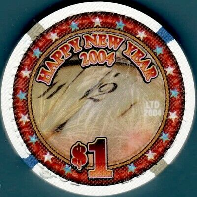 $1 Casino chip. Four Queens, Las Vegas, NV. New Year 2004. G04.