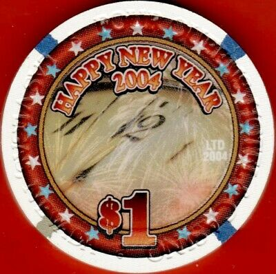 $1 Casino chip. Four Queens, Las Vegas, NV. New Year 2004. G10.