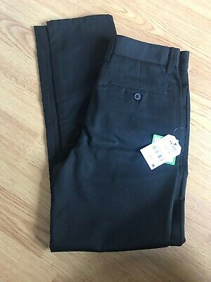 BOYS PULL-UP TROUSERS ELASTIC TEFLON PROTECTOR 2-6 YRS  SCHOOL BLACK//GREY//NAVY
