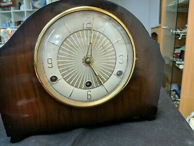 Vintage English 'Bentima' 8-Day Mantel Clock with Westminster Chimes
