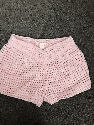 Girls Country Road Broderie Anglaise Shorts Size 2 Pink Cotton