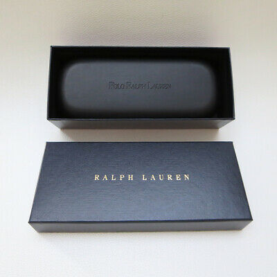 Polo Ralph Lauren hard glasses case and box with cleaning cloth