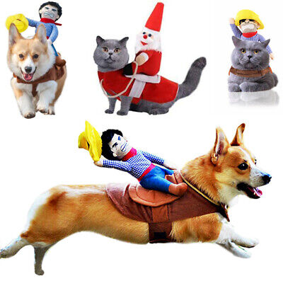 Christmas Gift For Pet Dog Cat Santa Claus / Cowboy Rider Clothes Costume Party