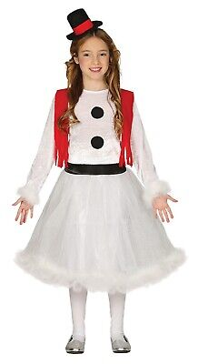 Girls Frosty Snowman Winter Festive Christmas Nativity Fancy Dress Costume