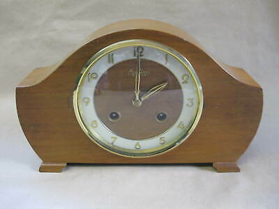 Vintage Bentima Mantel Clock ~ 8 day ~ Working ~ With Key ~ West Germany