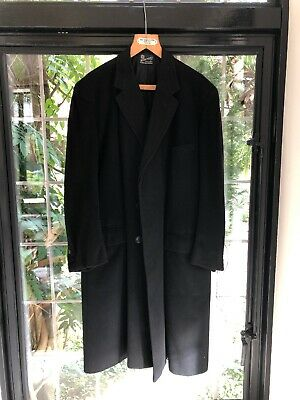 Vintage Henry Poole Chesterfield Wool Topcoat Overcoat 1969 In Black Cashmere?