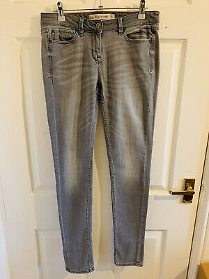 Grey Denim Next Relaxed Skinny Jeans Size 8 Long (3513)