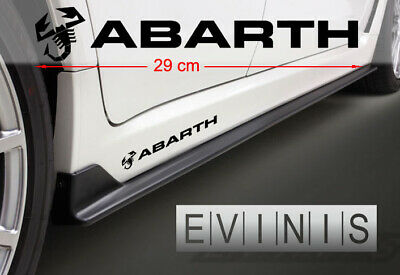 FIAT ABARTH 2x Side Stickers Car Decals Graphics DEFAULT BLACK left and right