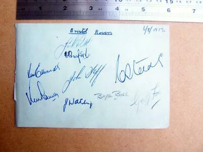 Football - 1952 Bristol Rovers    Autograph (code3Sep)