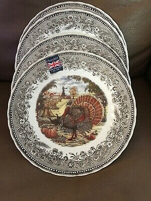 Churchill Royal Sussex 4 Turkey Thanksgiving Dinner Plates Dishes