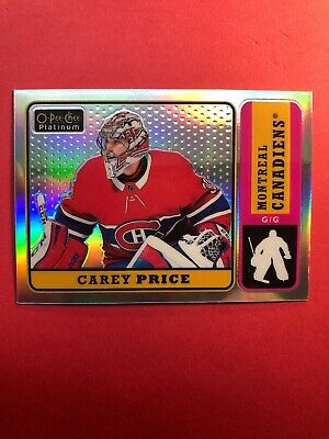 2018-19 OPC Platinum Retro Rainbow Parallel #R-10 Carey Price Montreal Canadiens