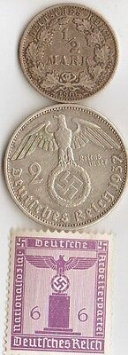 -*WWI and *WWII - silver  *german  coins / stamp
