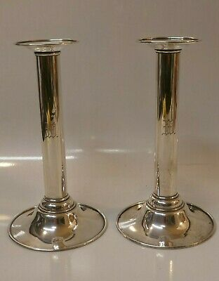 Vintage Whiting Mfg. Co. Weighted Sterling Silver Pair Of Candle Sticks