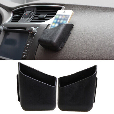 2PCS Universal Car Accessories Glasses Phone Organizer Storage Box Case Holder