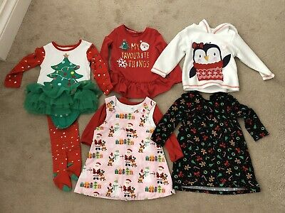 Baby Girls Christmas Outfit Bundle Aged 12-18 months