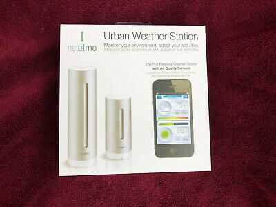 NETATMO NWS01 FUNK WETTERSTATION Silber URBAN WEATHER STATION APPLE iPHONE OVP