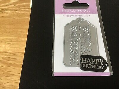 Die Cutter In A Happy Birthday Tag From Dovecraft New
