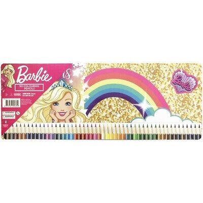 Barbie 50 Colouring Pencils in Tin