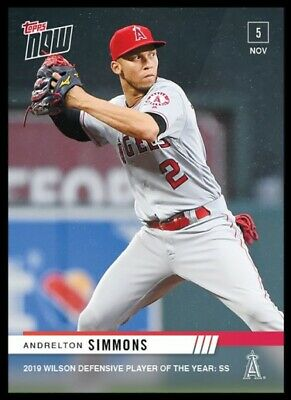 2019 Topps Now Andrelton Simmons #OS30 Wilson Defensive Player of the Year
