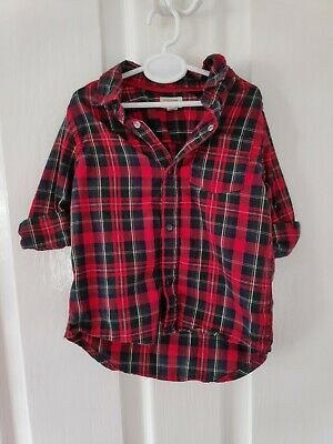 River Island Mini checked boys shirt 9-12 months