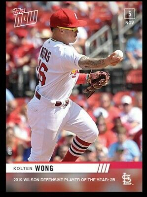 2019 Topps Now Kolten Wong #OS28 Wilson Defensive Player of the Year