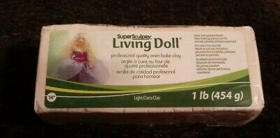 SUPER SCULPEY - LIVING DOLL - Polymer Clay - 454g - Light Colour - New Sealed