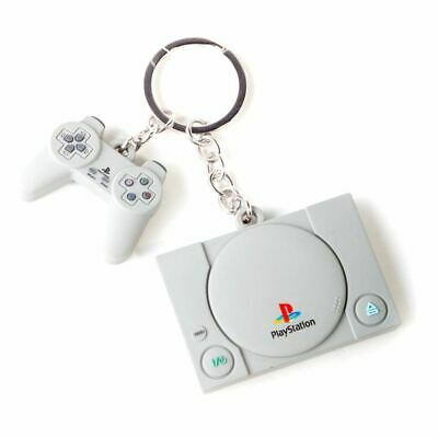 Difuzed Console & Controller 3D Rubber Keychain Key Chain Grey One Size