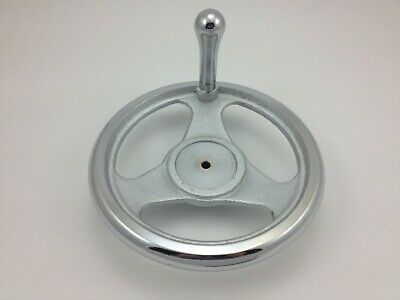 "8"" Cast Iron, Dish Spoked Handwheel with Revolving Handle - Brand New"