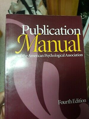 Publication Manual of The American Psychological Association 4th Edition