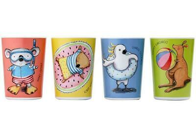 Summer Holidays with Barney Gumnut & Friends Tumbler Set Of 4
