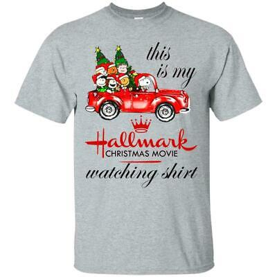 Snoopy Tee This is my Hallmark Christmas Movie Watching Cotton T-Shirt S-3XL
