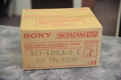 Sony Betacam SP tapes BCT - 60 MLA x 10 new old stock in box