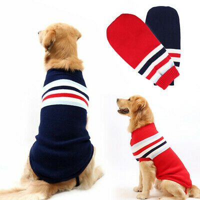 Fashion Puppy Dog Jumper Sweater Pet Clothes For Small Medium Large Dogs Coat UK