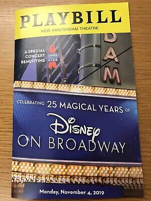 DISNEY ON BROADWAY 25th ANNIVERSARY PLAYBILL-ONE NIGHT ONLY SPECIAL CONCERT 11/4