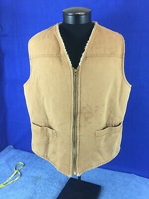 Carhartt Vintage Sherpa Lined Hunting Vest Men's size XL - T