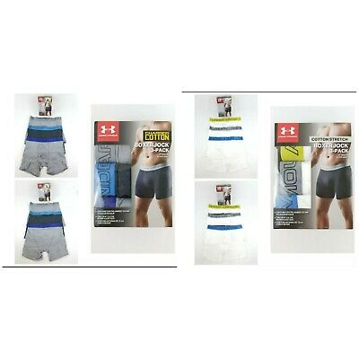 Under Armour 1277279 Men's Boxer Brief Charged Cotton Stretch Boxerjock - 3 Pack