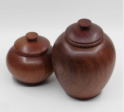 Fine Chinese Classical Huali Wood HandGrinding Storage Tank Pot Kettle Tea Caddy