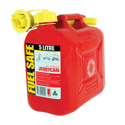 5 Litre Jerry Can Red Petrol Fuel Container Heavy Duty Fuel Storage With Pourer