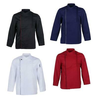 Chef Jacket Coat Breathable Kitchen Uniform Long Sleeve Breathable Women Men